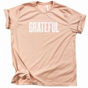 Grateful inspirational graphic tshirt